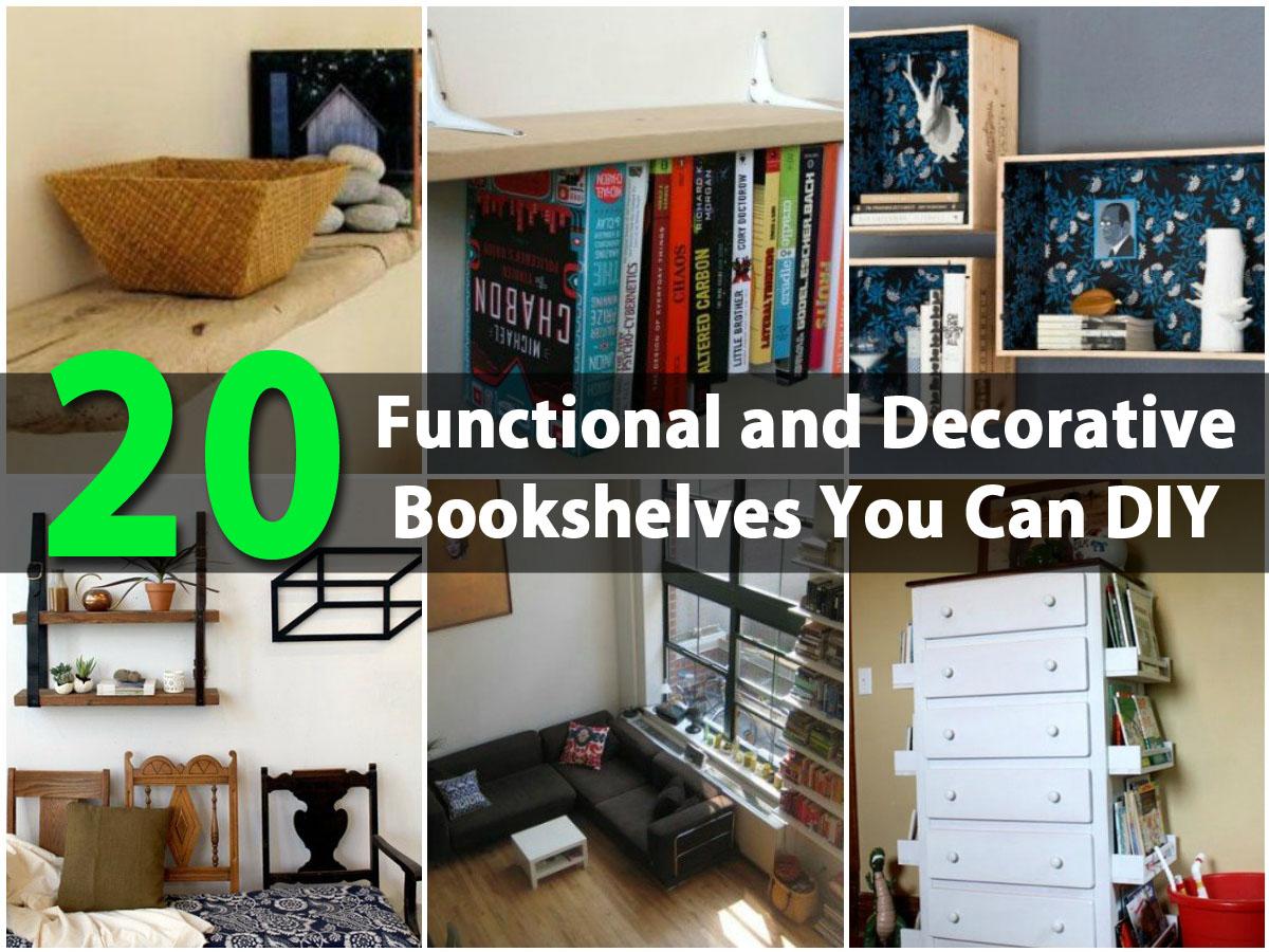 20 Functional And Decorative Bookshelves You Can Diy Diy