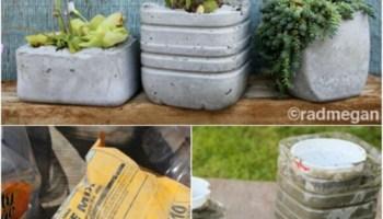 Make molded concrete planters.