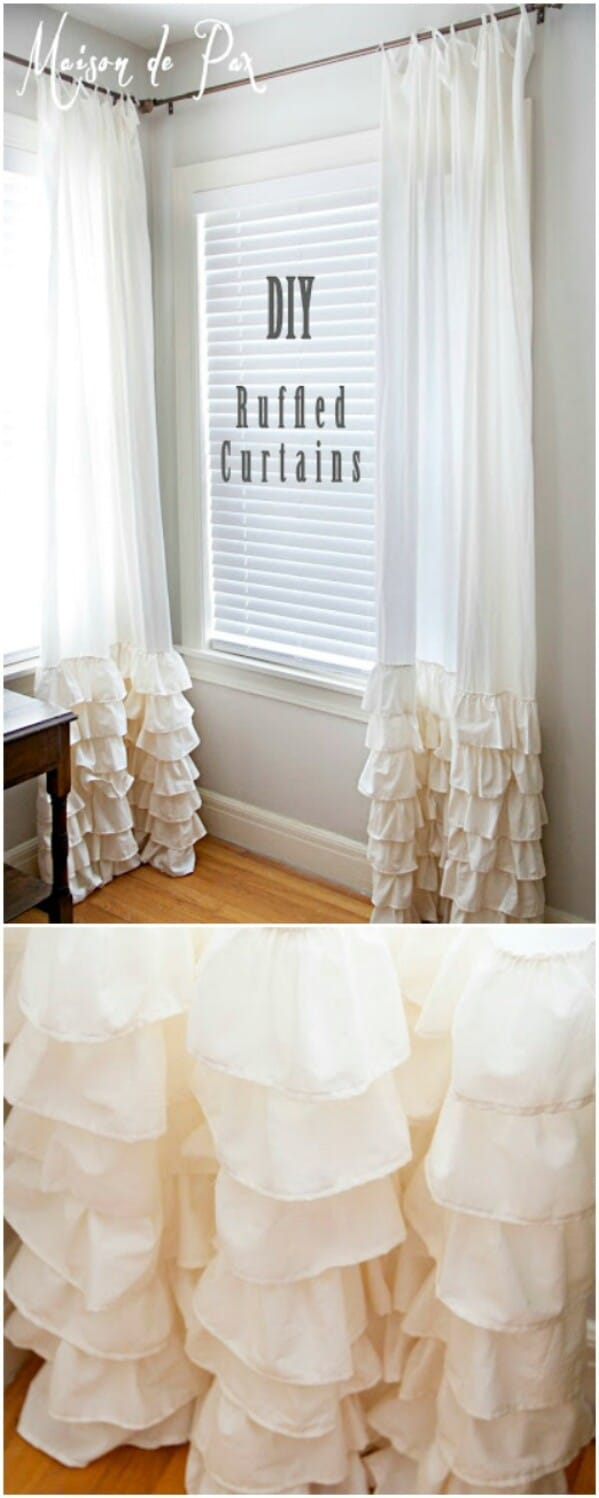 20 Elegant And Easy Diy Curtain Ideas To Dress Up Your Windows Diy Crafts