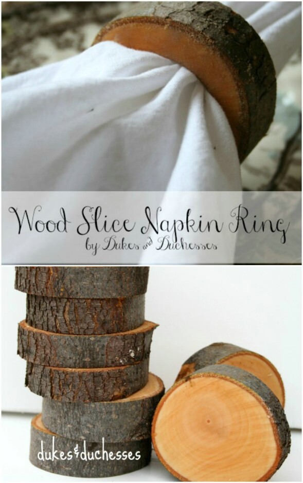 Wood Slice Napkin Rings