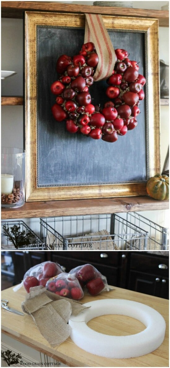 16 apple wreath diyncraftscom farmhouse furniture collection