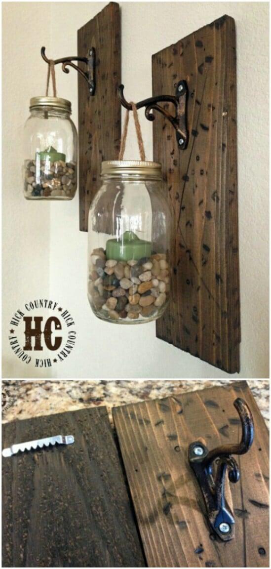 23 hanging mason jar diyncraftscom farmhouse furniture collection