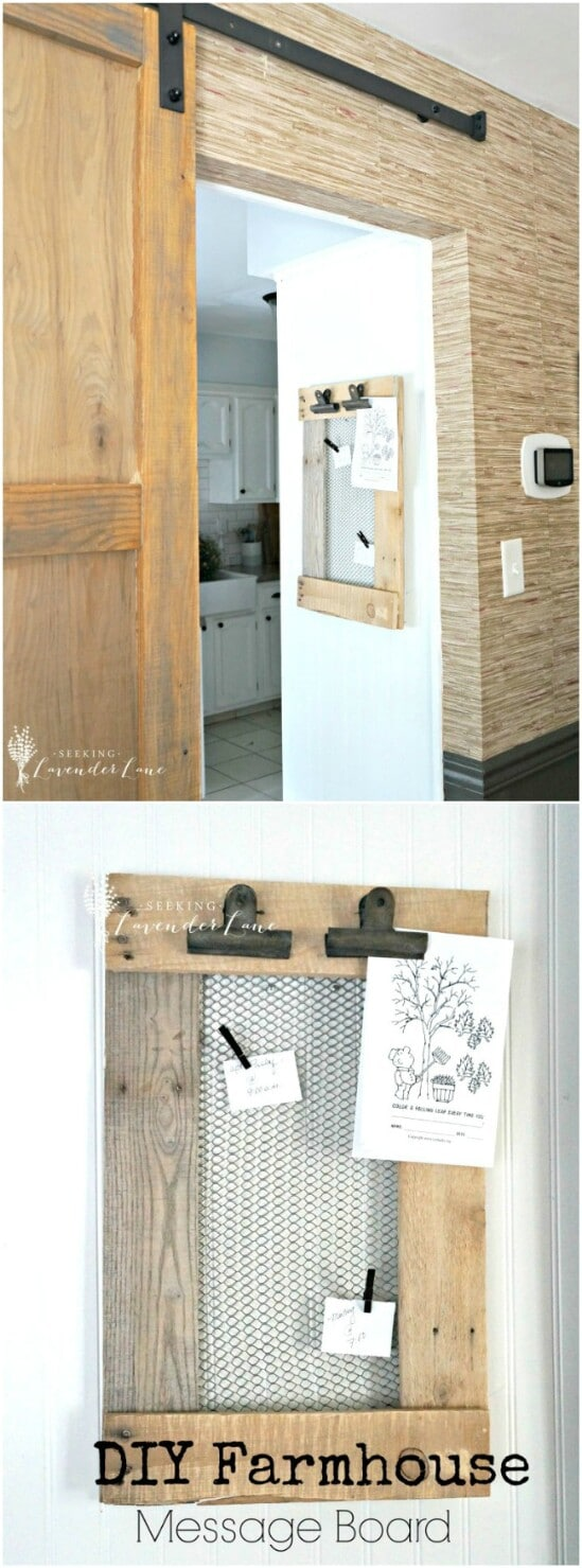 3 message board diyncraftscom farmhouse furniture collection