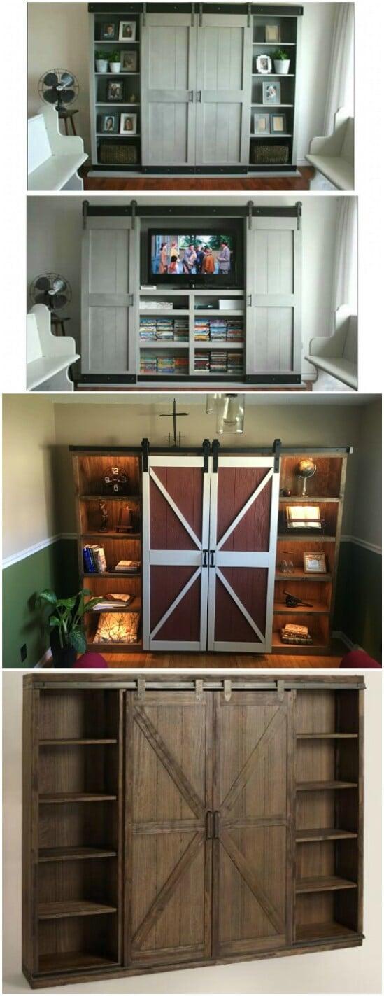 41 sliding door diyncraftscom farmhouse furniture collection