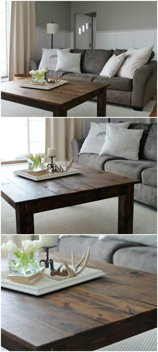 45 coffee table diyncraftscom farmhouse furniture collection 1