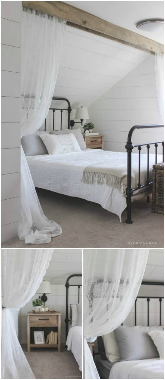 9 bed curtains diyncraftscom farmhouse furniture collection