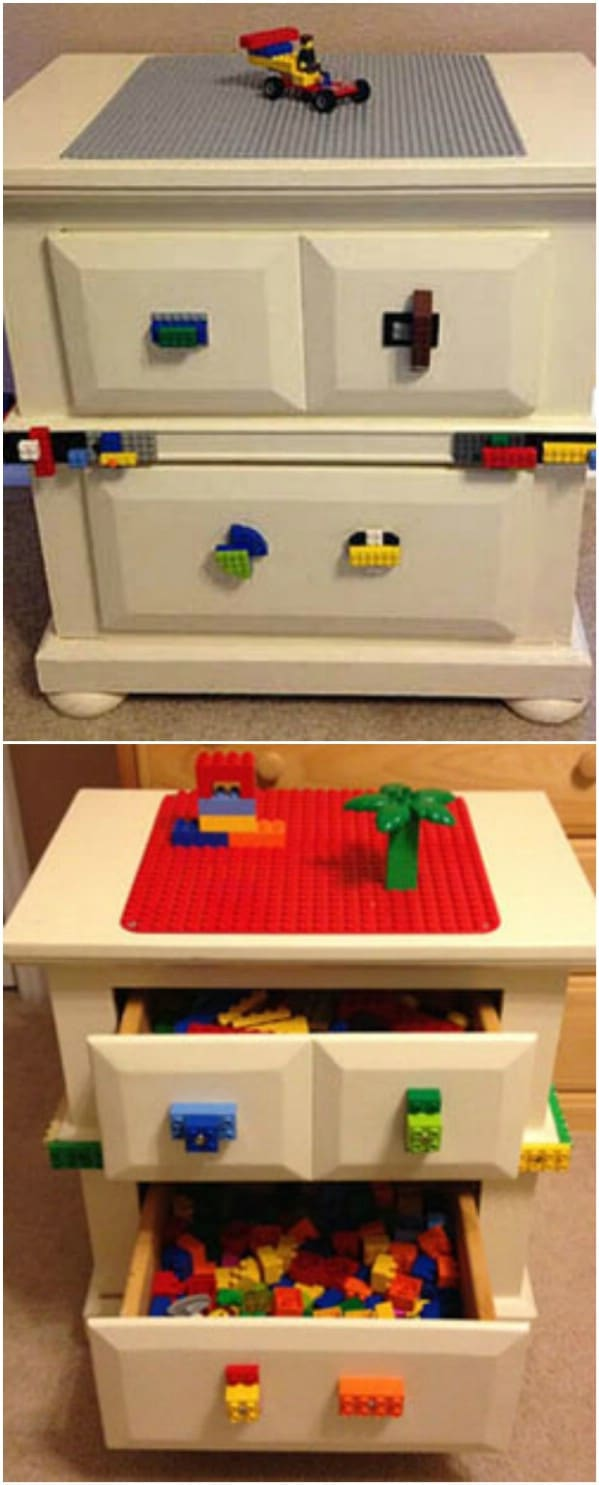 Bedside Table Turned Lego Desk