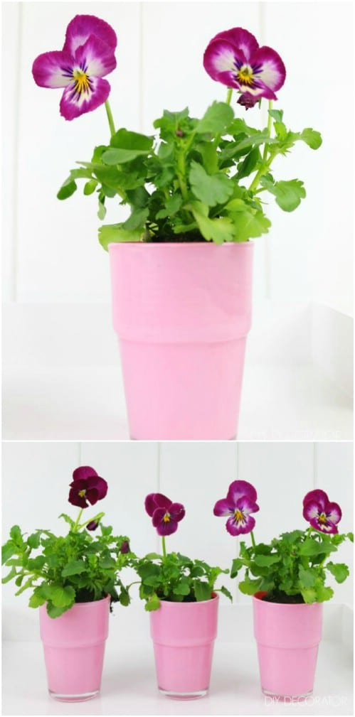 Painted Flower Pot – IKEA Hack