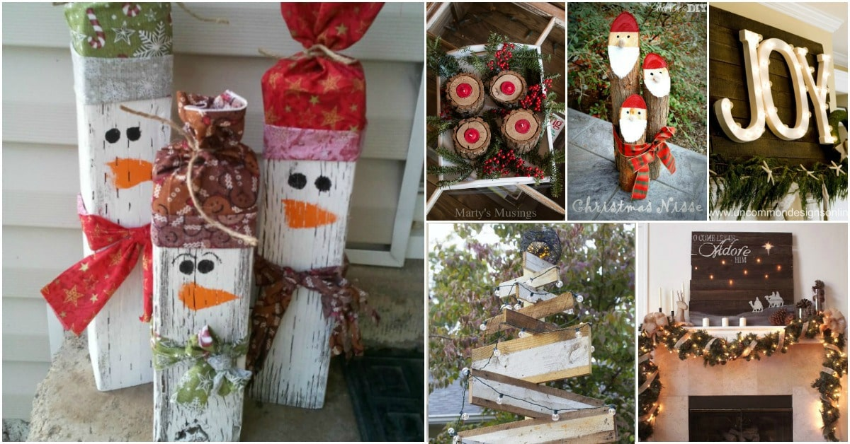 25 Reclaimed Wood Christmas Decorations To Add Rustic
