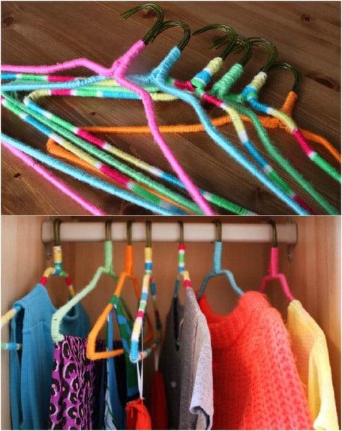 DIY Neon Nonslip Hangers