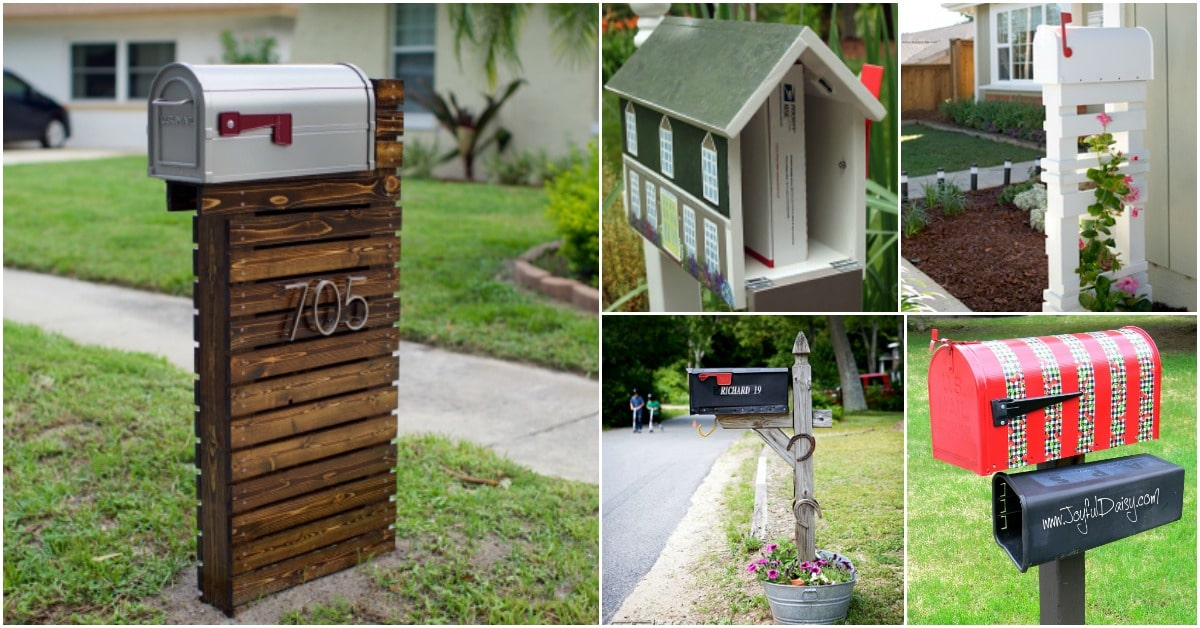 15 Amazingly Easy Diy Mailboxes That Will Improve Your Curb