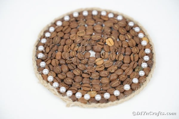 Unique Upcycled CD Coffee Bean Coaster