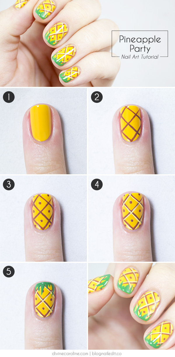 Easy Nail Art Tutorial Newspaper Quick Diy Step By Nails New