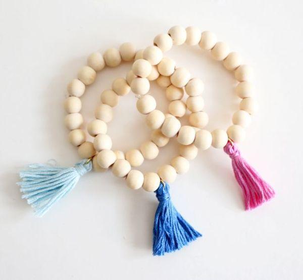 DIY Wooden Tassel Bracelet - diff colors