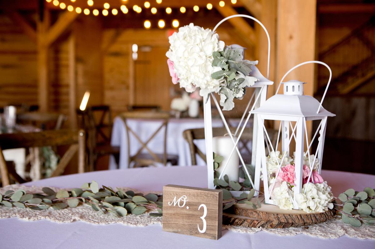 Fall Wedding Lantern Centerpieces
