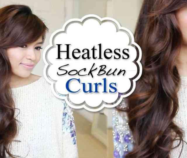 Overnight Sock Bun Curls