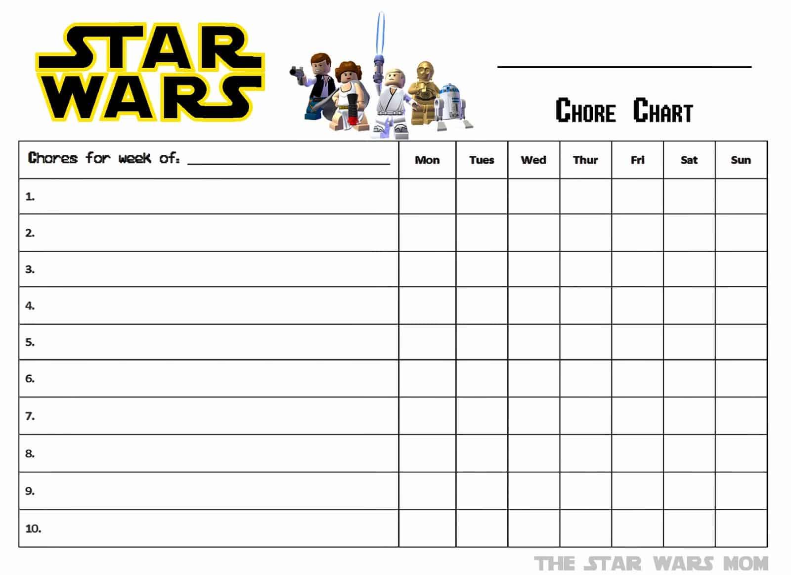15 Printable Chore Charts To Keep The Kiddos Helpful