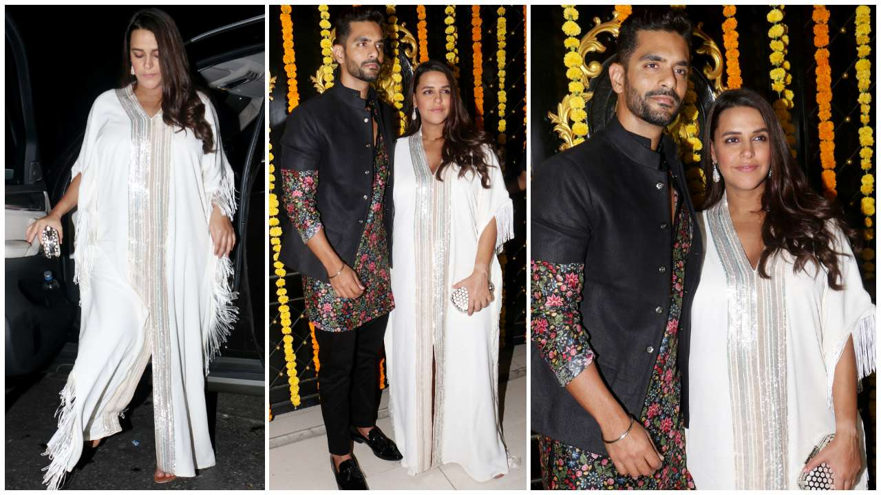 Soon-to-be parents, Neha Dhupia and Angad Bedi looked lovely as they posed for pictures