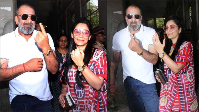 Sanjay Dutt and Maanayata Dutt cast their vote