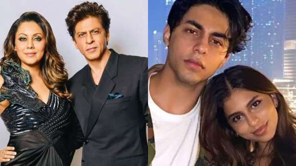 These throwback photos featuring Shah Rukh Khan, Gauri Khan, Aryan Khan,  Suhana Khan are all things love