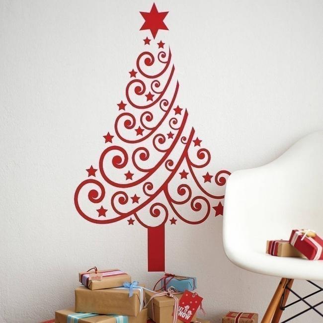 Árboles de navidad para espacios pequeños - vinilo