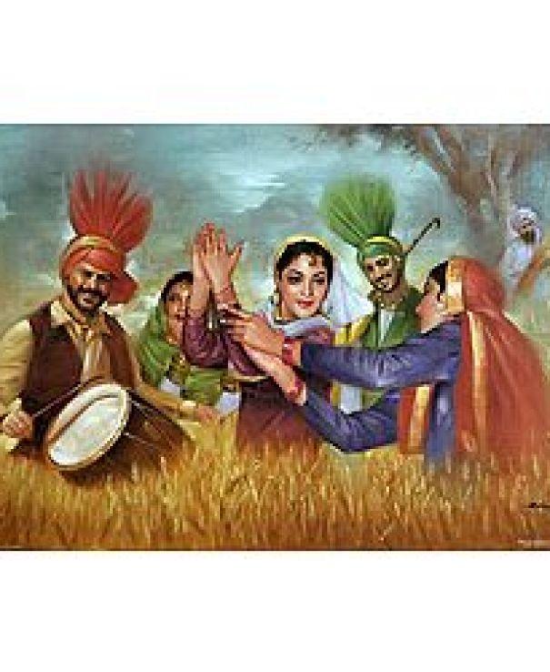 Vaisakhi Festival of Punjab - Poster