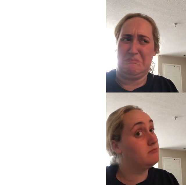 Dopl3r Com Memes Blond Woman Frowning And Thinking Over
