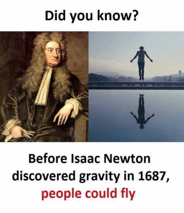 Dopl3r Com Memes Did You Know Before Isaac Newton Discovered