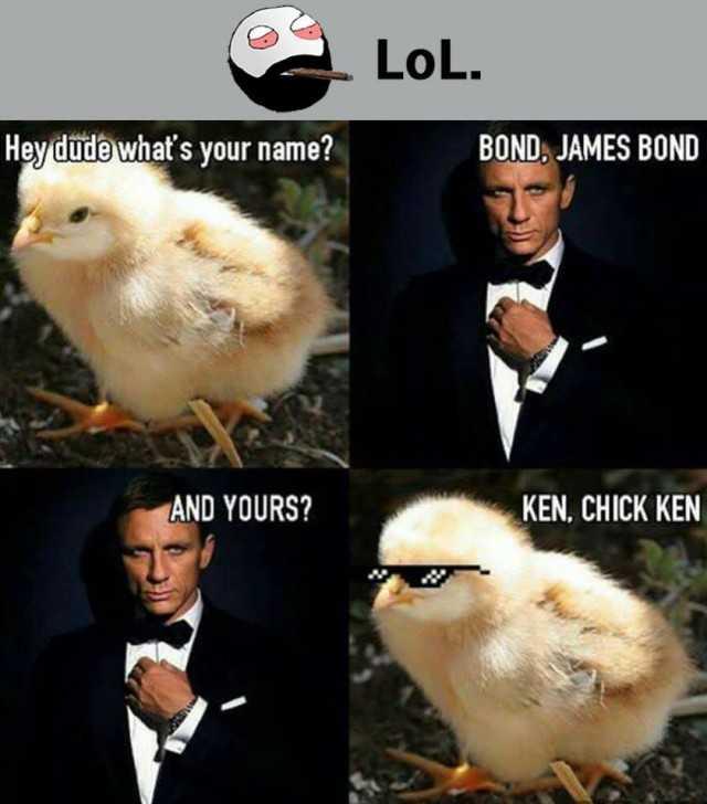 Dopl3r Com Memes Lol Hevdude Whats Your Name Bond James