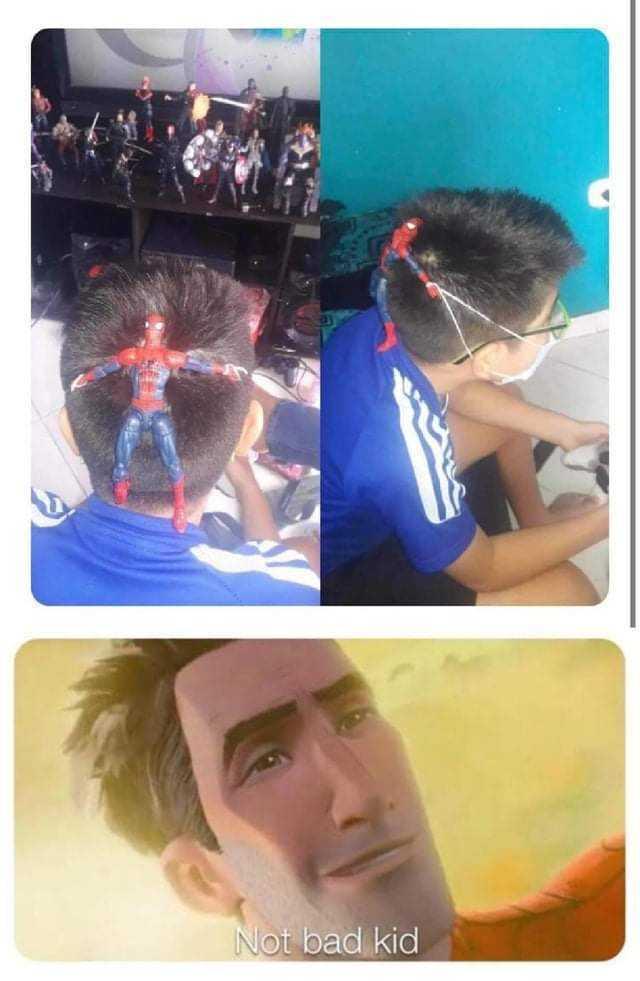 Dopl3r Com Memes Not Bad Kid Spiderman Mask