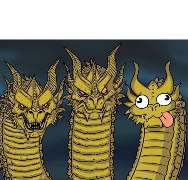 Dopl3r Com Memes Three Headed Dragon Godzilla And Kaiju Meme