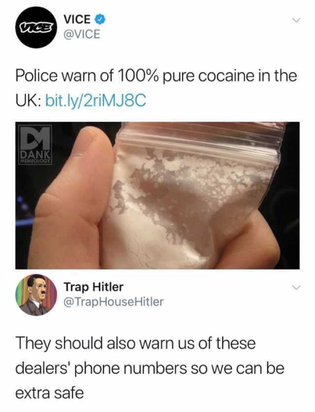Dopl3r Com Memes Vice Vice Vice Police Warn Of 100 Pure