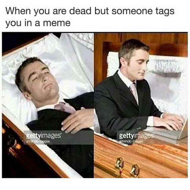Dopl3r Com Memes When You Are Dead But Someone Tags You In A
