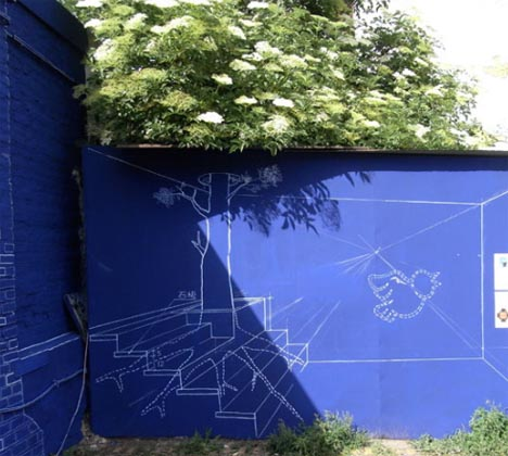 blueprint 3d space artwork