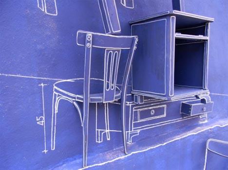 blueprint home furniture sculpture