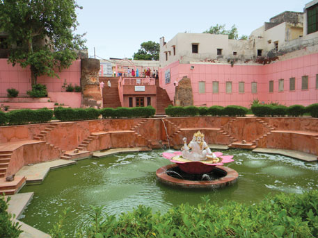 The water in Brahma Sarovar, one of the many kunds in Braj, was reduced to a trickle due to encroachment