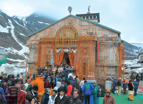 The first batch of pilgrims at Kedarnath in May this year