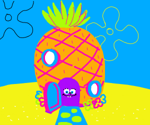 Who Lives In A Pineapple Under The The Sea Drawception
