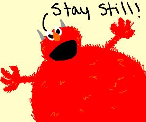 A Man Gets Tickled By Elmo Drawception
