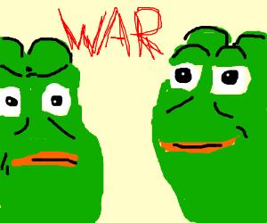 Pepe Vs Pepe The King Prawn Drawception