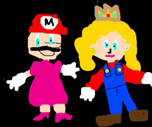 Luigi And Princess Daisy Clothes Swap