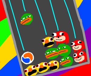Puyo Puyo But With Memes Drawception