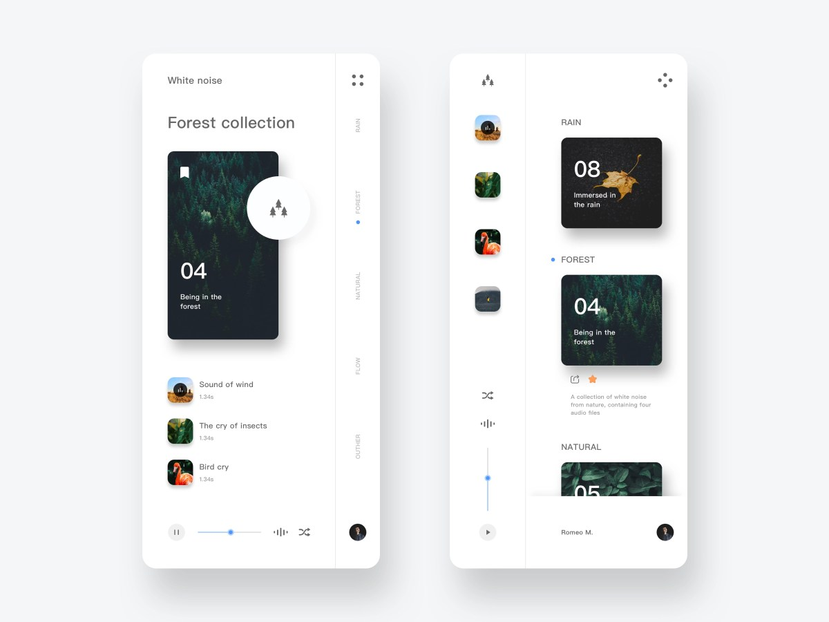 Mobile App Music UI Design