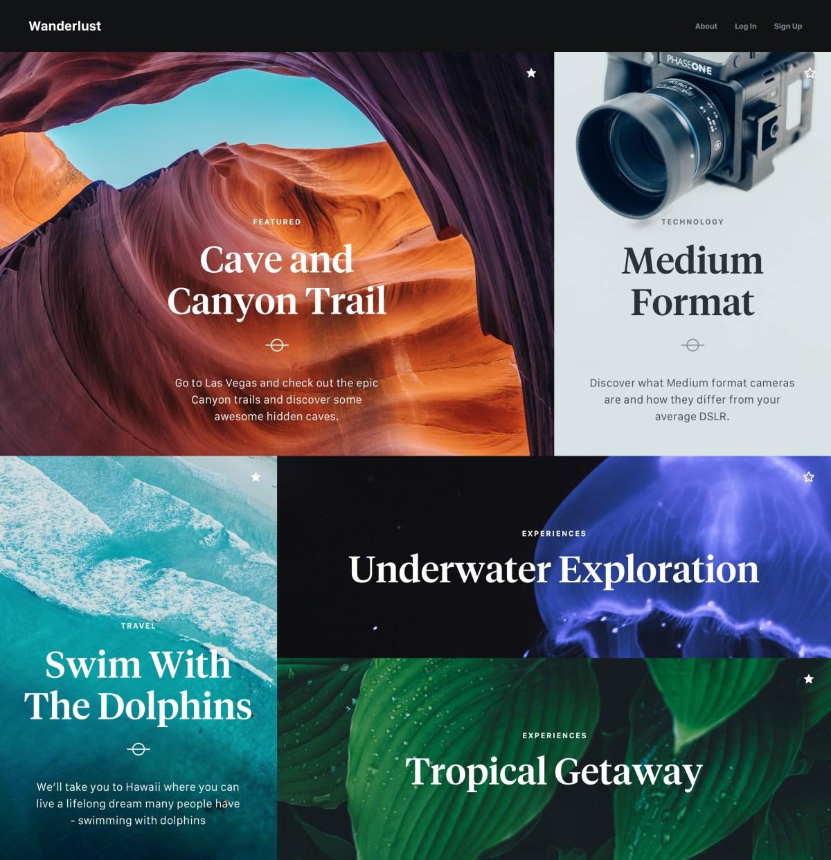 Minimalist Blog UI Design