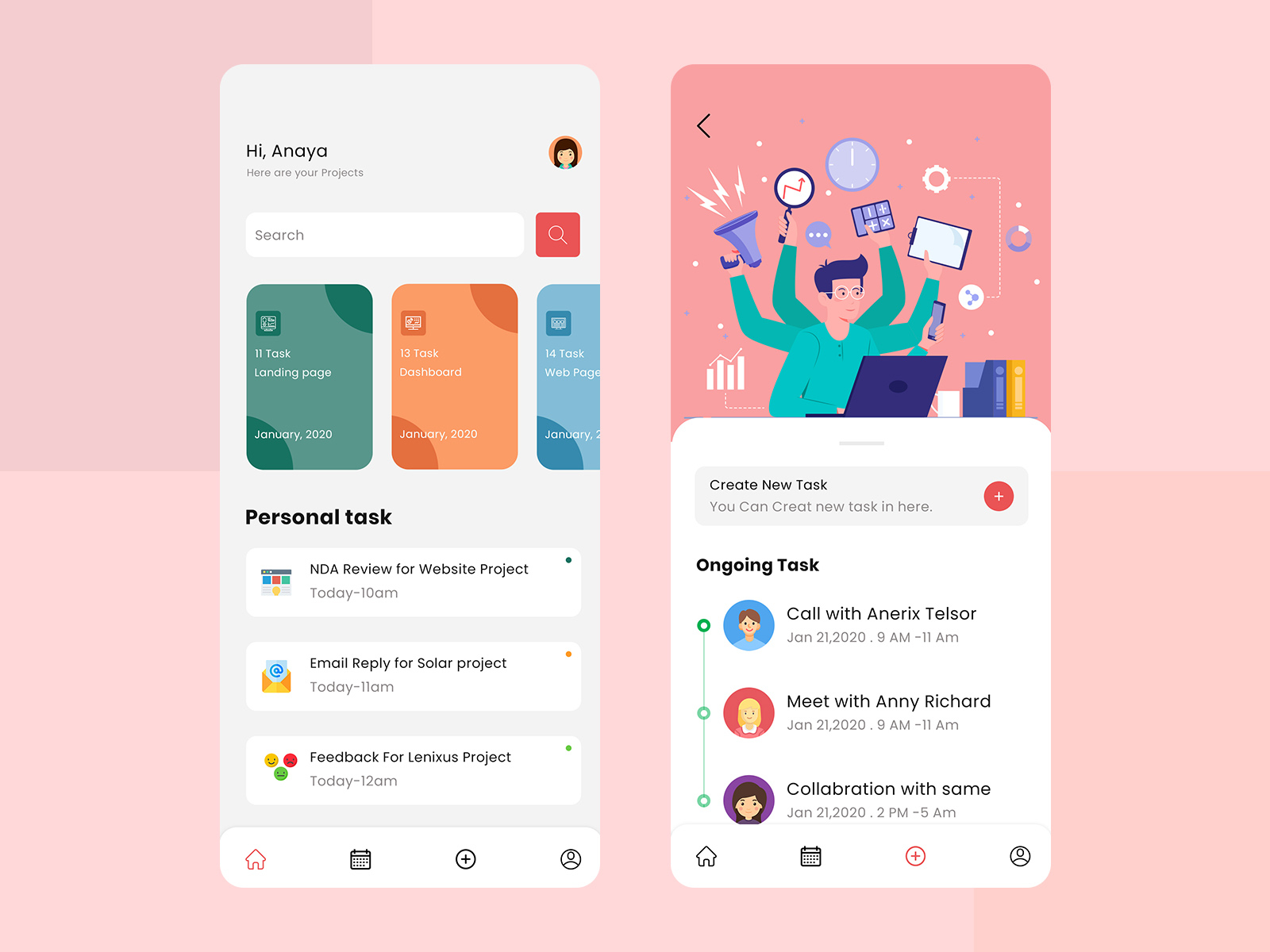 Daily Task Management App By Excellent Webworld On Dribbble