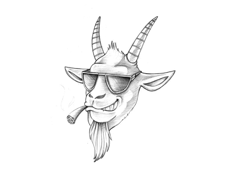 Cool Goat Sketch - 02 by Koncept Makers on Dribbble