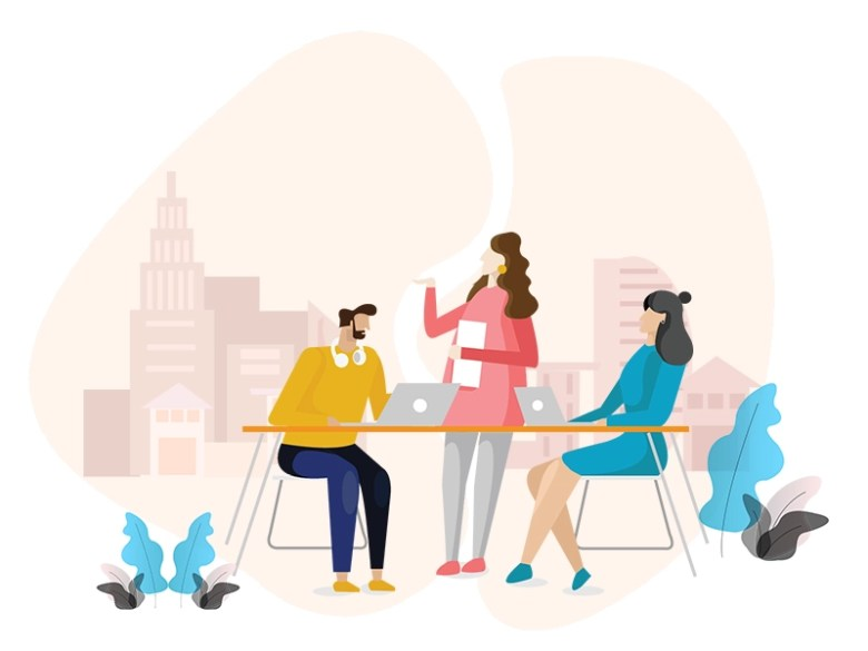 Team Business Meeting Illustration by AYUSHI ASWAL on Dribbble