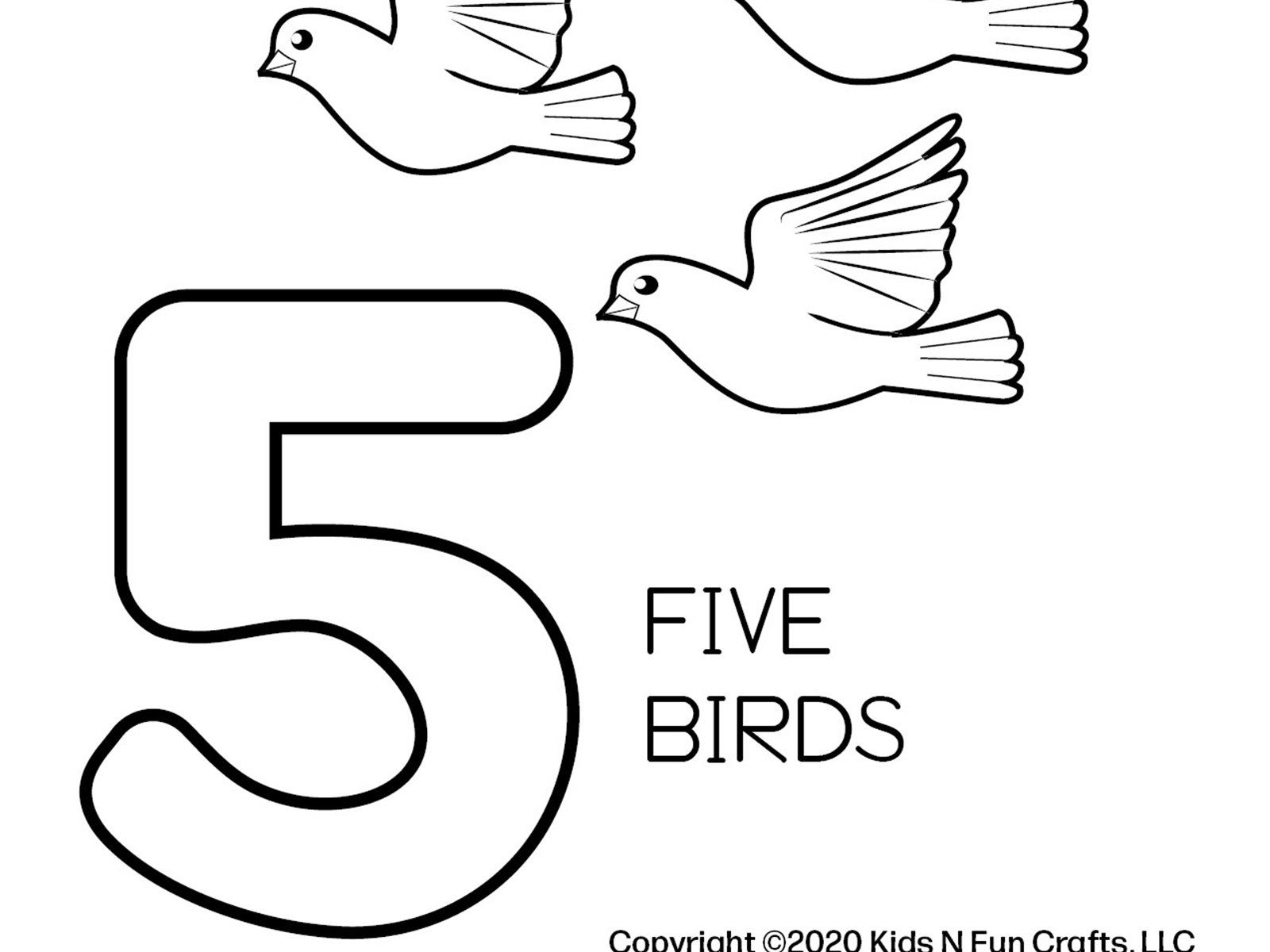 Number Learning Coloring Worksheets 2 6 By Deborah Goschy