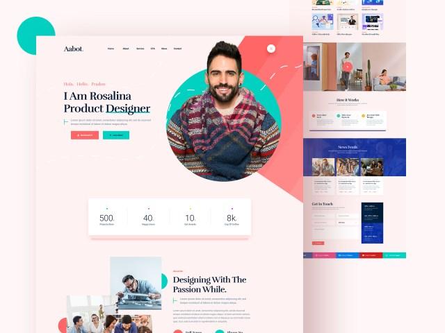 Personal design portfolio example