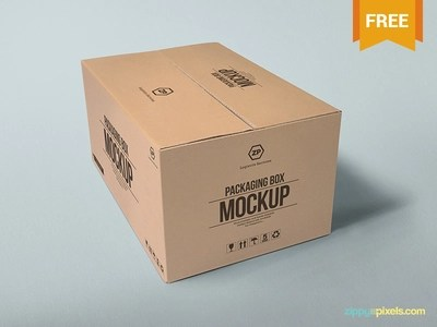 Download 2 Free Packaging Box Mockups by ZippyPixels - Dribbble